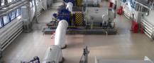 Магистральные насосные агрегаты (МНА) в зале НПС Вынгапур.